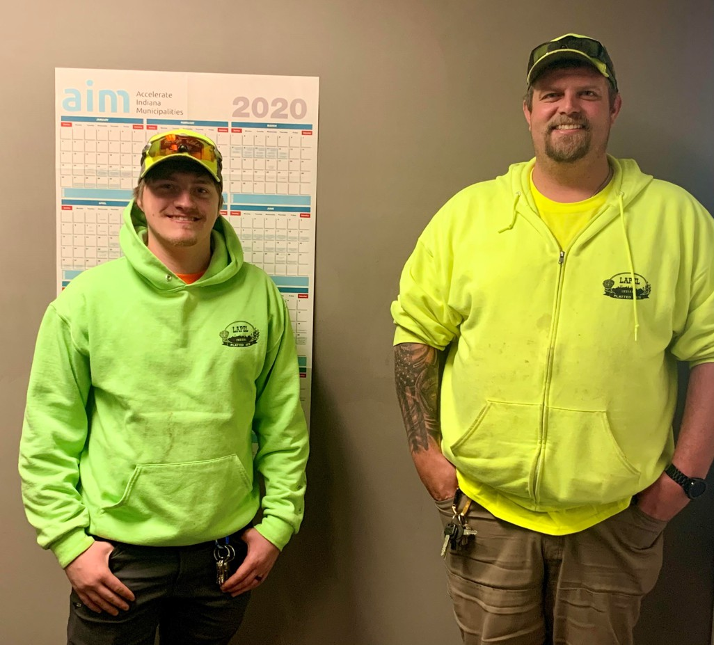 Town of Lapel Employees Steve and Brandon
